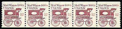 US #1903-Pl. 6  9.3¢ Mail Wagon PS5 PNC5, F-VF NH MNH
