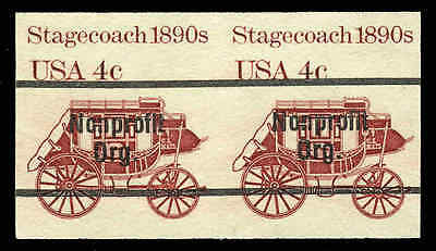 US #1898Ac  4¢ Stagecoach imperf pair, VF NH MNH