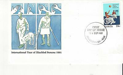 Australia #810  UN International Year of Disabled Persons 1981  FDC
