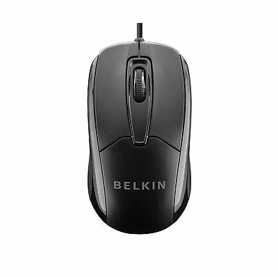 Belkin 3 Button Wired USB Optical Mouse for Desktop Laptop and Netbook (Mac o...