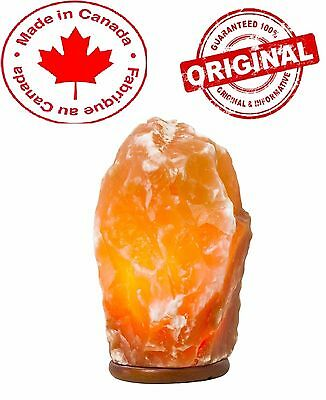 Natural Tall Pink Himalayan Crystal Salt Lamp ~8 inches - Hand Carved Light NEW