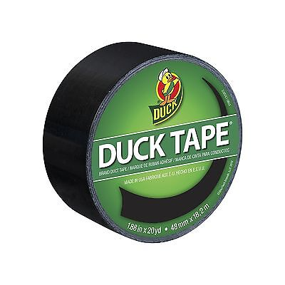 Duck Brand 1265013 Color Duct Tape Black 1.88 Inches x 20 Yards Single Roll