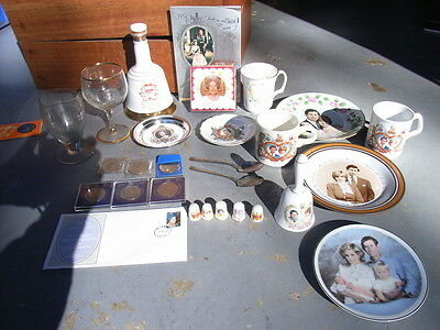 Royal memorabilia package, Queen Mother, Queen, Charles and Di Will and Harry