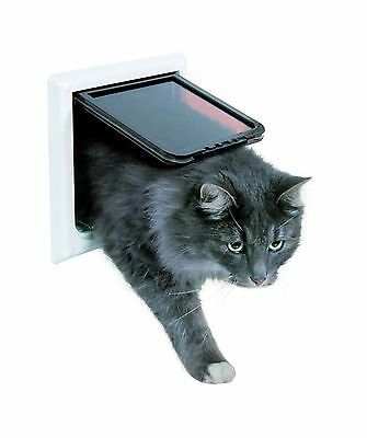 Trixie Pet Products 4-Way Locking Cat Door with Tunnel X-Large White