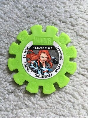 2017 Woolworths Marvel Heroes Collector Green Super Disc #40 Black Widow