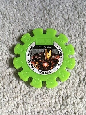2017 Woolworths Marvel Heroes Collector Green Super Disc #37 Iron Man