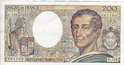 Billet De 200 Francs Montesquieu 1992  G-132