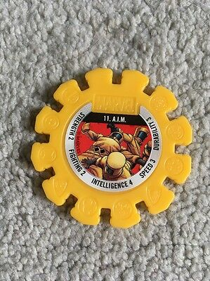 2017 Woolworths Marvel Heroes Collector Yellow Super Disc #11 A.I.M