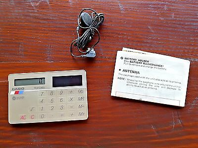 Casio Vintage 1980's Credit Card Size Calculator Radio RD-90 FM Made in Japan