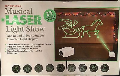 Mr Christmas Musical Laser Light Show Year Round Indoor Outdoor Animated Display