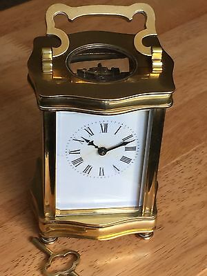 Antique Victorian 1890's French Mechanical Move, Solid Brass, Mantle Clock