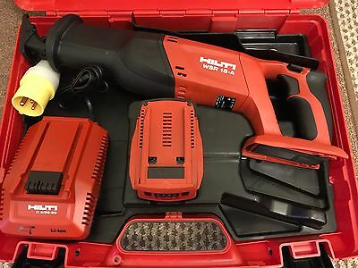 Hilti WSR 22-A (18-a)CORDLESS RECIPROCATING SAW ,5.2Ah Battery,battery Charger.