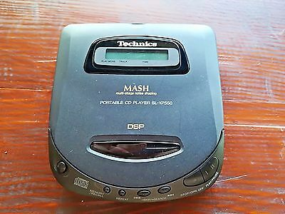 Technics SL-XP550 Portable CD Player Discman Vintage Excellent Made in Japan