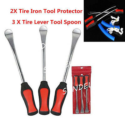 3Pcs Motorcycle Motorbike Practical Spoon Tire Irons Lever Tyre Changing Tool AU