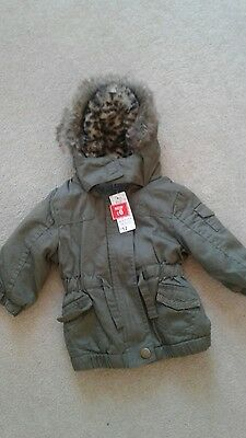 ff baby girl khaki animal print jacket up to 3 months
