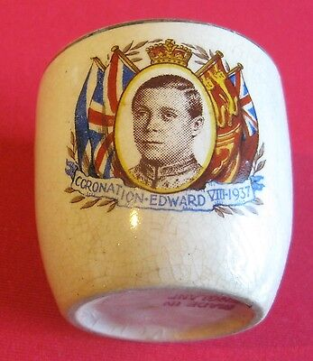 Vintage Collectable Small Egg Cup - Coronation - Edward Viii - 1937