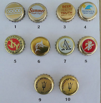 10  Crown Seal Bottle Caps from  Australian Small & Large Breweries (Lot 13)