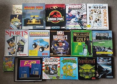 20 Amiga Games Bundle Job Lot Inc Skidmarks, Turtles, Jurassic Park, Corporation