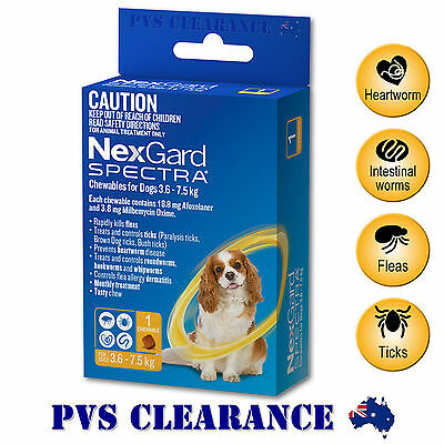 Nexgard Spectra Yellow Single for Small Dogs 3.6 - 7.5 kg 1-Pack - Nexguard