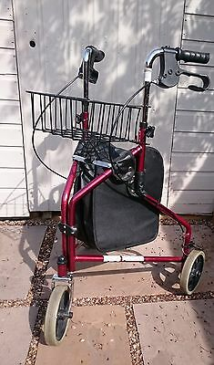 Pro Mobility 3 Wheel Walker With New Bag