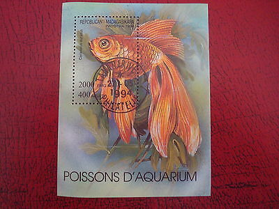 Madagascar - 1994 Goldfish - Minisheet - Unmounted Used - Ex Condition
