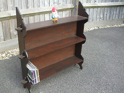 Vintage wall shelf / freestanding bookcase, Arts & Crafts style, useful storage