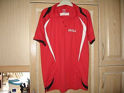 Used Red Joola Table Tennis polo shirt, Size Medium