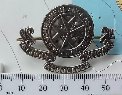 Vintage St John Ambulance Association Brigade First Aid Hat Cap Uniform Badge