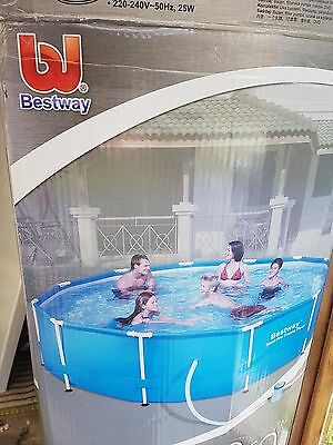 BESTWAY STEEL PRO FRAME SWIMMING POOL 12ft x 30in WITH LADDER