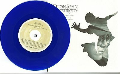 """Elton John Electricity Blue Vinyl and Poster 7"""" First Class UK Free Post"""