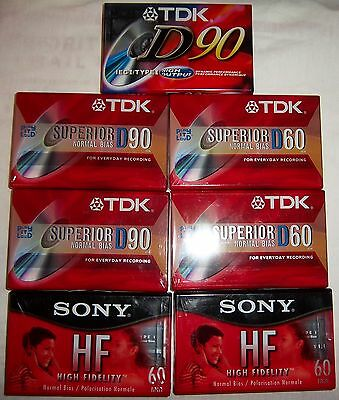 Lot Of Sony Tdk And Maxell Normal Bias Audio Cassette Tapes New Sealed