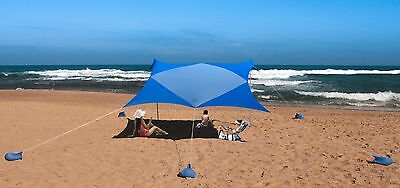 XL Beach SunShade 10ft x 10ft Canopy For 8 People  by White Rabbit Art Studio