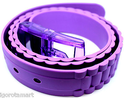 New Branded Womans Ladies Purple Pure Scented Waist Stretchable Belt UK Post