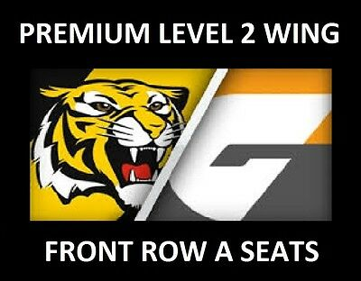 AFL Tickets - Richmond Tigers v GWS Giants - Level 2 Wing - Front Row A