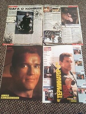 Arnold Schwarzenegger Magazine Poster A4 and articles Terminator, Twins