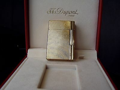 "S.T.DUPONT  L.2  GATSBY-GOLD  DIAMONT-HEAT-Muster  ""TOP""   56x37x11mm"