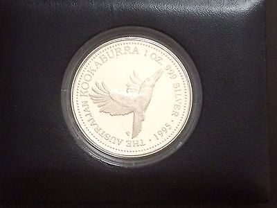 Kookaburra 1995 Silver Coin 1 oz Proof In Leather Case