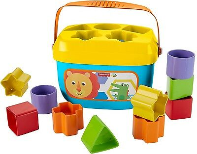 Fisher-Price Baby's First Blocks to sort stack and drop Introduces colors shapes