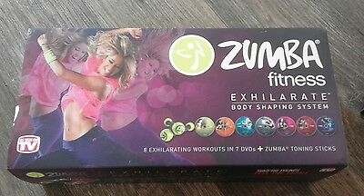 Zumba Fitness Exhilarate 7 DVDs and Toning sticks