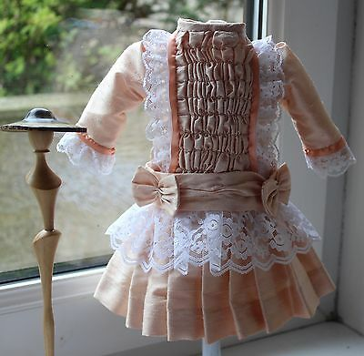 """reproduction antique dolls dress for 15/16"""" doll"""