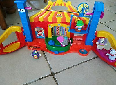 LITTLE PEOPLE le CIRQUE avec personnage animaux FISHER PRICE sonore