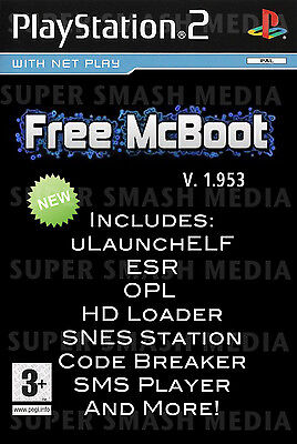 Free McBoot FMCB 1.953 Playstation 2 PS2 Memory Card - LOADED - OPL MC Boot SNES