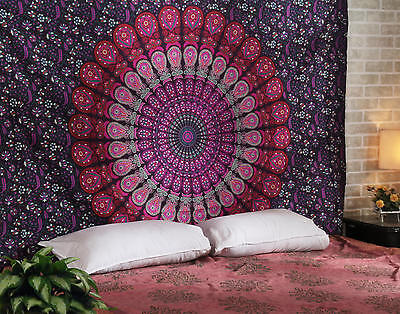 Mandala Tapestry Indian Wall Hanging Decor Bohemian Twin Bedspread !!!FREE GIFT