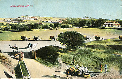 1900s postcard Cantonment MHOW India