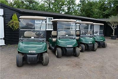 2013 EZGO RXV Golf Buggies x 4, Direct Finance Company 48 volt onboard Charger
