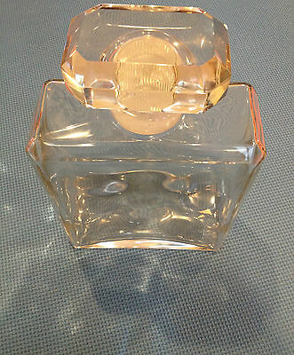Glass bottle, decanter with glass stopper bevel cut edges - large
