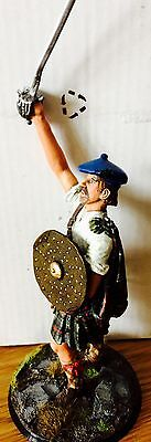 hand painted white metal model 120mm Jacobite clansman Culloden