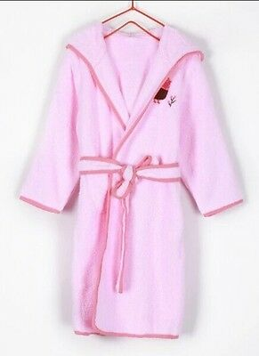 Kids Bathrobe With Hood 100% Terry Towel Cotton 500gsm Size 6