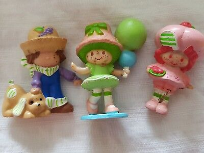 strawberry shortcake vintage doll mini miniature x3 tlc lime chiffon balloons