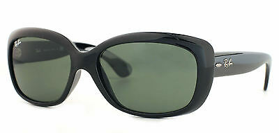 Ray-Ban RB4101 601 Jackie Ohh Black Frame Green Classic 58mm Lens Sunglasses